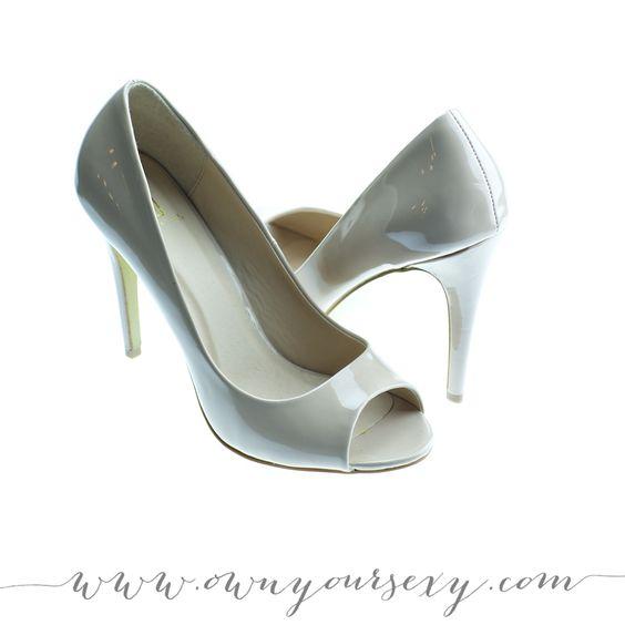 nude patent peep toe heels, size 10 | #shoes #heels #boudoir #boudoirphotography #boudoirphotos #accessoriesforboudoirshoot #ruebdoudoir #ownyoursexy #nycboudoir