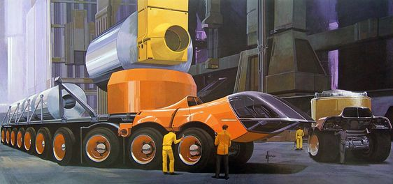 Syd Mead, for U.S. Steel, early 1960s...