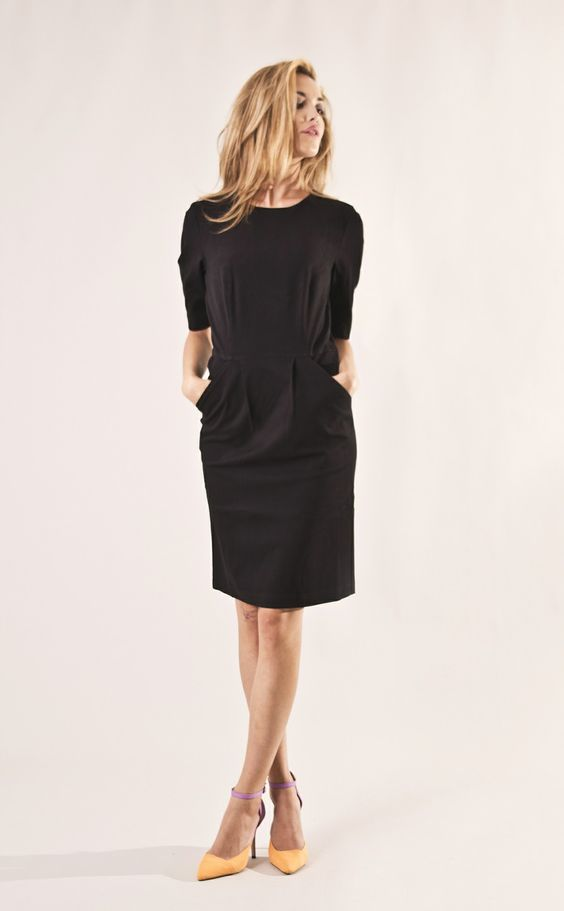 Knee Long Dress via JENNYGRETTVESTORE, Contemporary Swedish Fashion. Click on the image to see more!