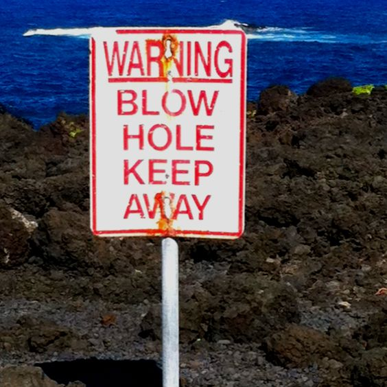 Blow Hole at the black sand beach on Maui