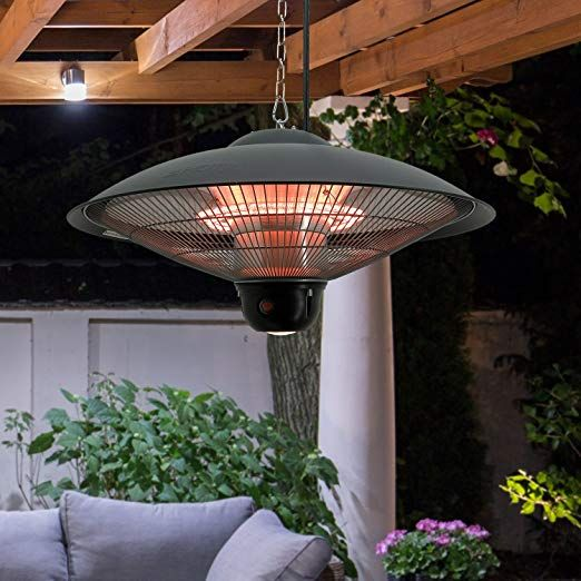 Outdoor Indoor Hanging Ceiling Electric Patio Heater With Remote Control View More Heaters By Clicking On The Image Patio Heater Ceiling Ceiling Lights