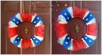 Tulle Confederate Flag Wreath