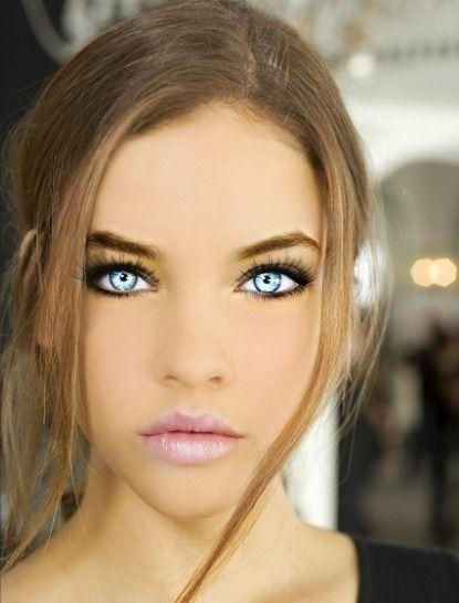 stunning eyes pink blue-#27