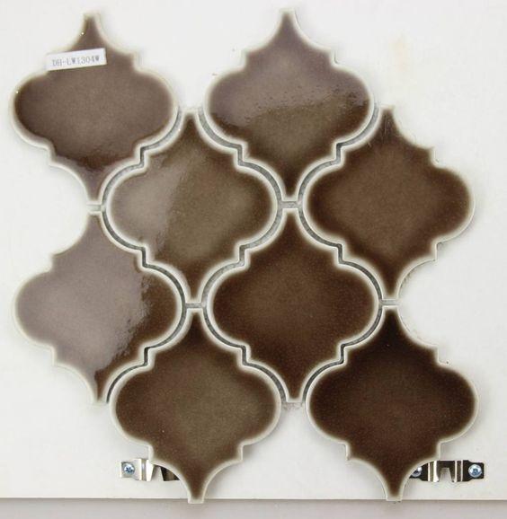 brown lantern polisehd surface ceramic material mosaic tile