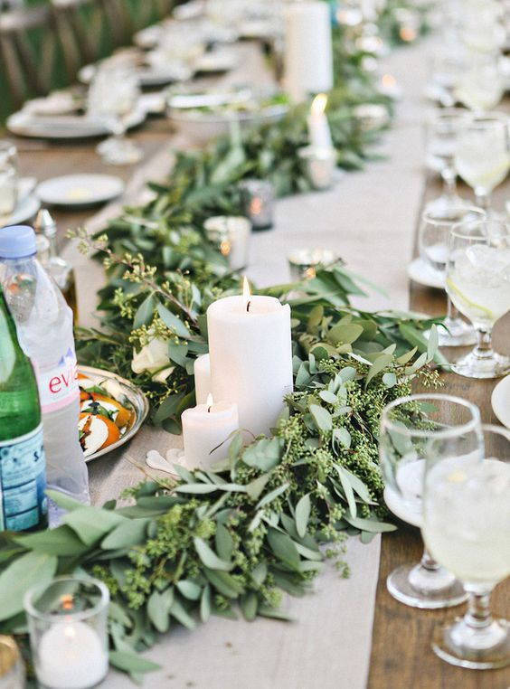 garland wedding table - Google Search