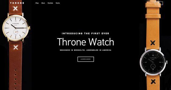 Mooi vormgegeven website