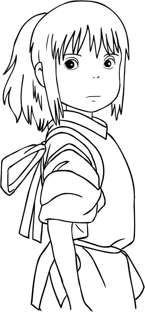 Download Or Print This Amazing Coloring Page Chihiro From Spirited Away Coloring Page Ghibli Art Anime Sketch Studio Ghibli Art