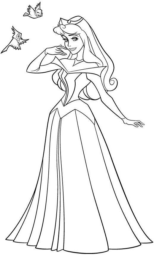 Coloriage Princesse Aurore