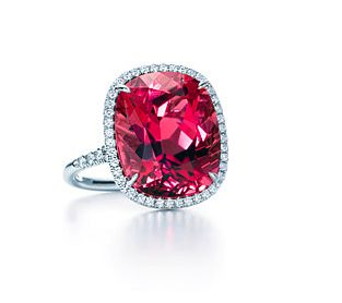 Tiffany and Co Pink Tourmaline and Diamond Ring