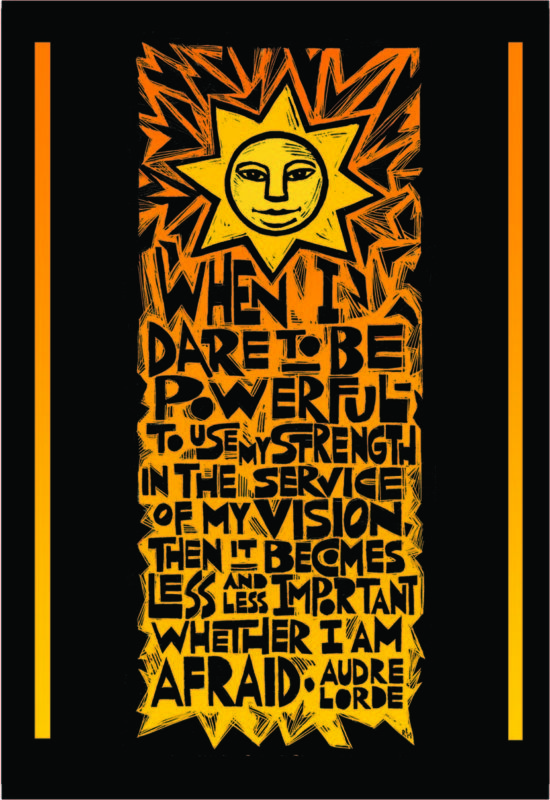 Dare To Be Powerful Notecard Poster Art For Social Justice Ricardo Levins Morales Poster Art Social Justice Poster
