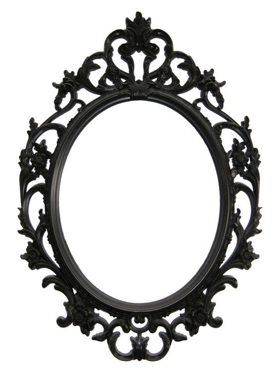 picture frame painting ideas - Mirror with barroc frame Espejo con marco de estilo