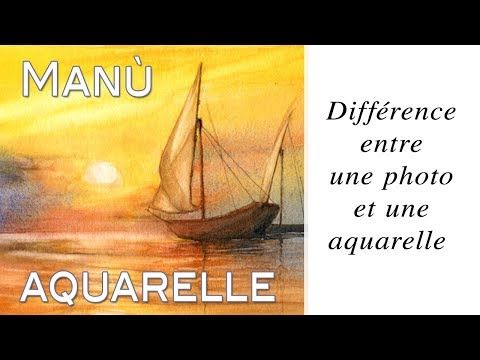 Manu Live Difference Entre Une Photo Et Une Aquarelle Youtube