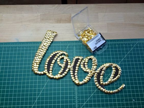 Dollar Store Crafts | How to Make Word Art