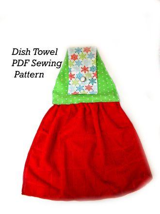 Dish Towel Set PDF Sewing Pattern Oven Door Holder | YouCanMakeThis.com