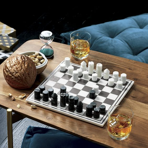 Marble Chess Game Reviews Cb2 Marble Chess Set Chess Game Chess
