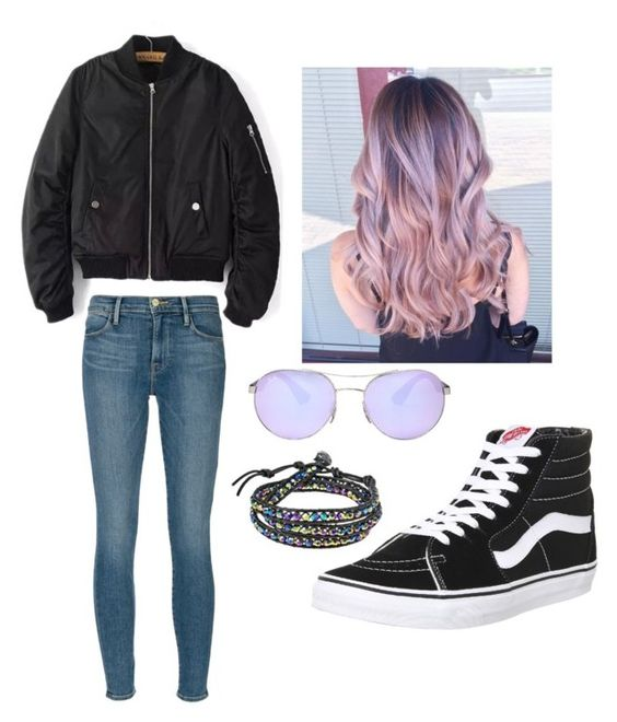 """""""Relax"""" by scatteredstripes ❤ liked on Polyvore featuring beauty, Frame Denim, Vans, AeraVida and Ray-Ban"""