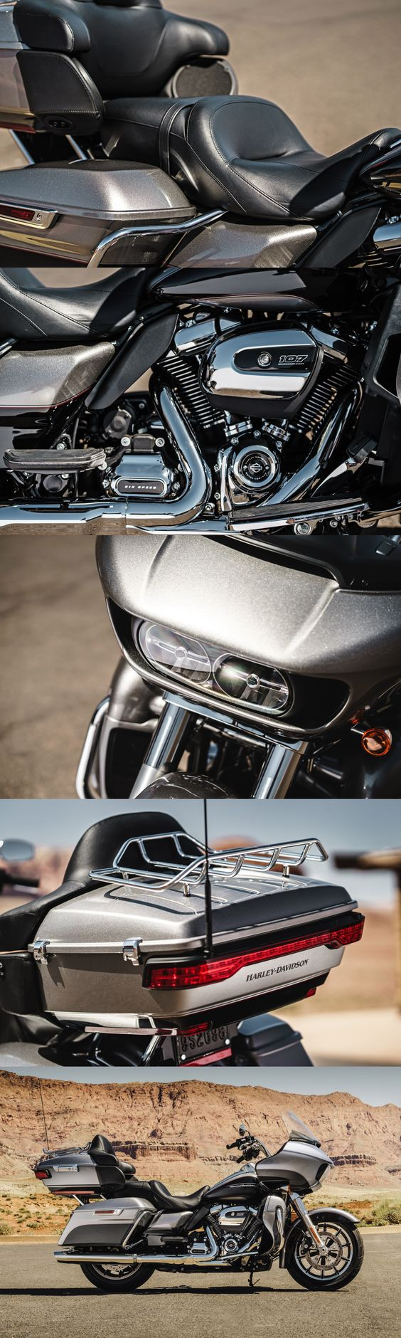 Times have never been better for the riders who put on the most miles. Get behind the frame-mounted shark nose fairing on the Road Glide Ultra and you'll know why. | 2017 Harley-Davidson Road Glide Ultra