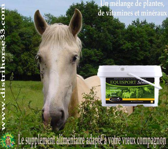 EQUISPORT SENIOR Bien être et vitalité du cheval âgé permet d'optimiser la vitalité du cheval âgé et prévenir les effets du vieillissement.  lien direct produit : http://www.distrihorse33.com/drainage-hepatique-cheval/444-equisport-senior-bien-etre-du-cheval-age-3661716108144.html  à retrouver sur www.distrihorse33.com