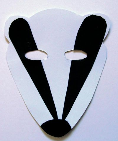 Badger mask craft SRC 2013 Pinterest Masking, Crafts and Mittens - paper face mask template