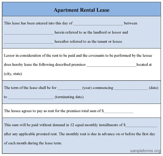Printable Sample Vacate Notice Form Real Estate Forms Online - apartment rental contract sample
