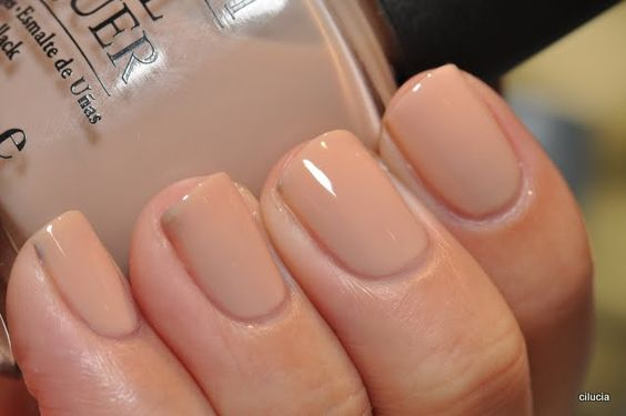 """my new favorite nail color - OPI """"samoan sand"""". And I'm wearing this one right now - total love!"""