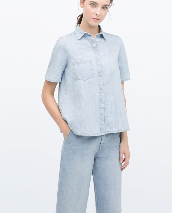 ZARA - WOMAN - DENIM SHIRT WITH POCKETS
