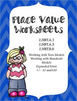 Place Value Worksheets & Task Cards {2nd Grade} | Place value ...