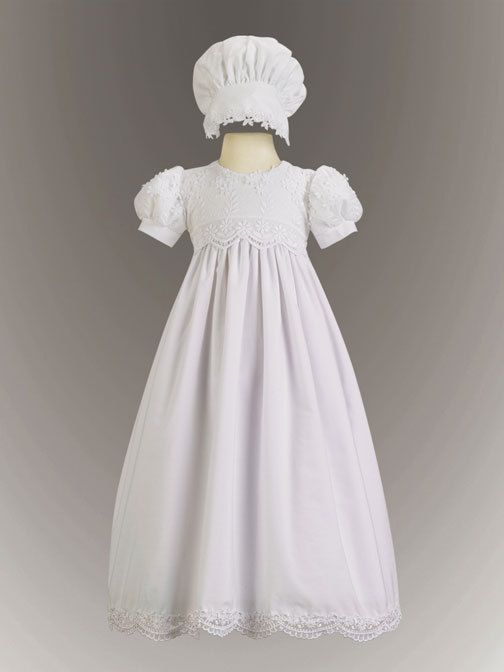 Adorable Baby Clothing - Embroidered Cotton Baby Girl Christening Gown - The Kayla, $75.00 (http://www.adorablebabyclothing.com/embroidered-cotton-baby-girl-christening-gown-the-kayla/)