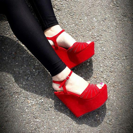 Red #wedges   #wedgeheels   #wedgeshoes   #fashion   #spring2014   #spring   #lovely   #red #springtime #springfling #springfun #2014spring #springbreak #springfun #funinthesun