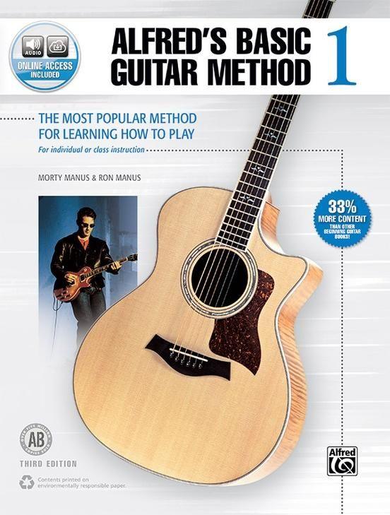 Alfred S Basic Guitar Method 1 Third Edition Guitar Books Guitar Basic Guitar Chords Chart