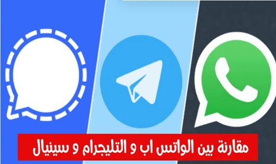 مقارنة بين تطبيق الواتس اب و التليجرام و سينيال من حيث الميزات والأمان In 2021 Telegram Logo Tech Company Logos British Leyland Logo
