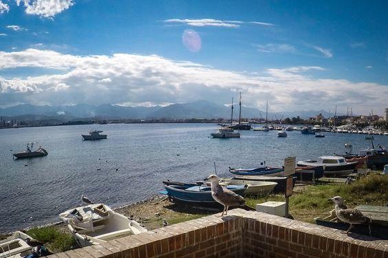 Милаццо / утро / набережная / море / небо / лодки /чайки  #Milazzo #italia #sicily #sea #travel #sky #morning #boat #seagull #fotoolgavolyanskaya