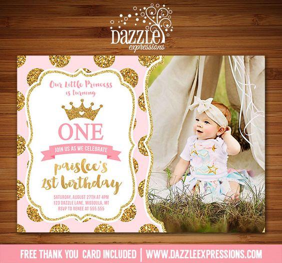 Princess Birthday Invitations, Princess Birthday And Pink