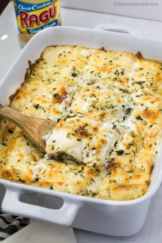 Spinach lasagna, Lasagna recipes and The o'jays on Pinterest
