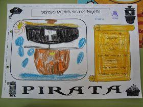 """El jueves de la semana pasada empezamos con la primera ficha del proyecto. Les dije a los niños una adivinanza cuyo resultado era """"pirata"""" ..."""