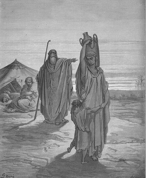 Expulsion of Ishmael and His Mother - Gustave Doré - Wikimedia Commons