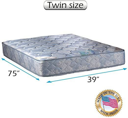 Dream Sleep Chiro Premier 2 Sided Orthopedic Blue Color Twin Mattress Only With Mattress Protector Included F Mattress Orthopaedic Mattress Mattress Covers Twin size bed with mattress included