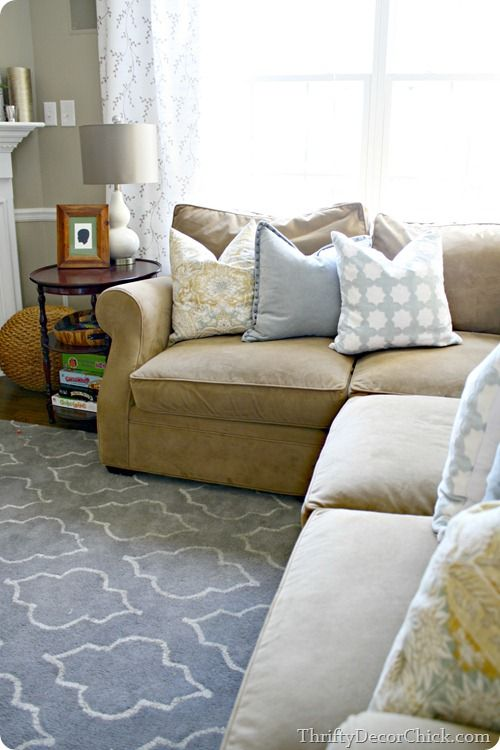 Throw Pillows Tan Couch : Tan couches, Rugs and Grey rugs on Pinterest