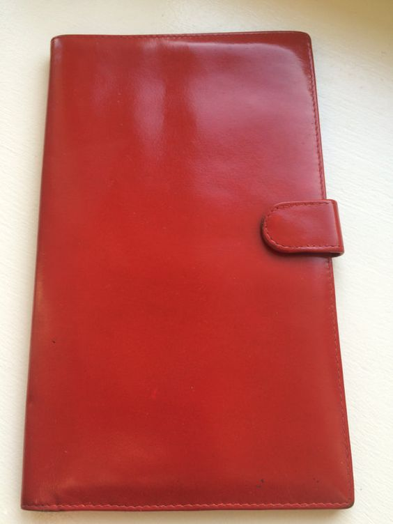 Vintage Red Leather Bond Street Travel Wallet by ItsallforHim