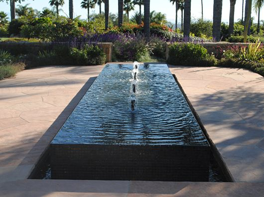 Modern square water fountain water garden pinterest for Square fish pond
