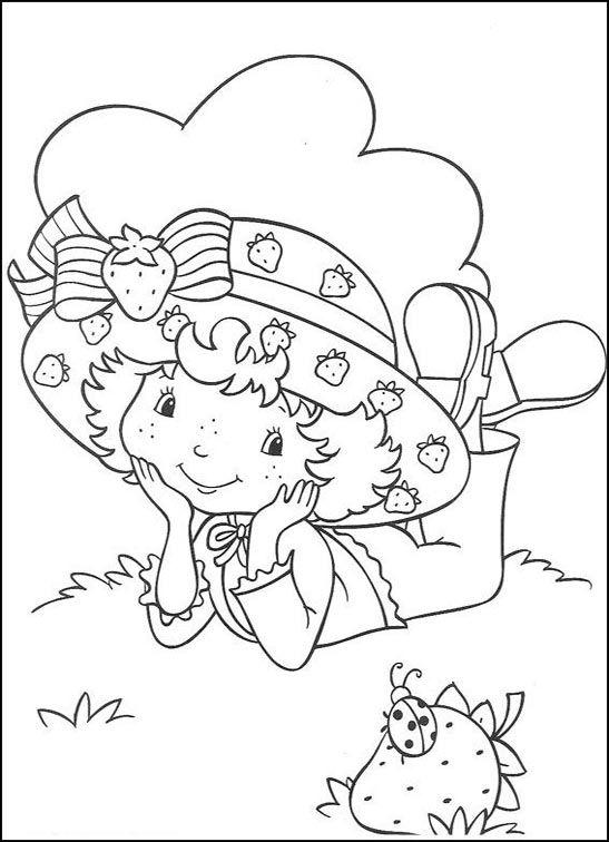 Dibujos para Colorear FresitaTarta de Fresa 22  Dibujos para