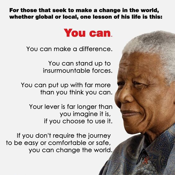 nelson mandela i am the first Nelson mandela was an inspirational speaker and anti-apartheid  the  anniversary of nelson mandela's inauguration as south africa's first.