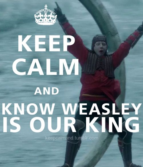 yes, weasley is our king