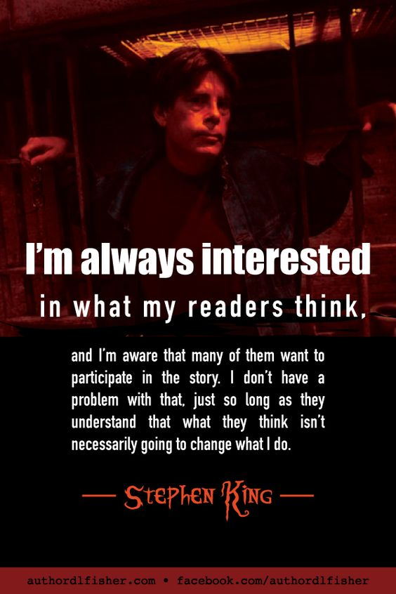 Participating, and setting boundaries, with your readers—from Stephen King. #WritingInspiration #StephenKing #how_to_write #writing #authors