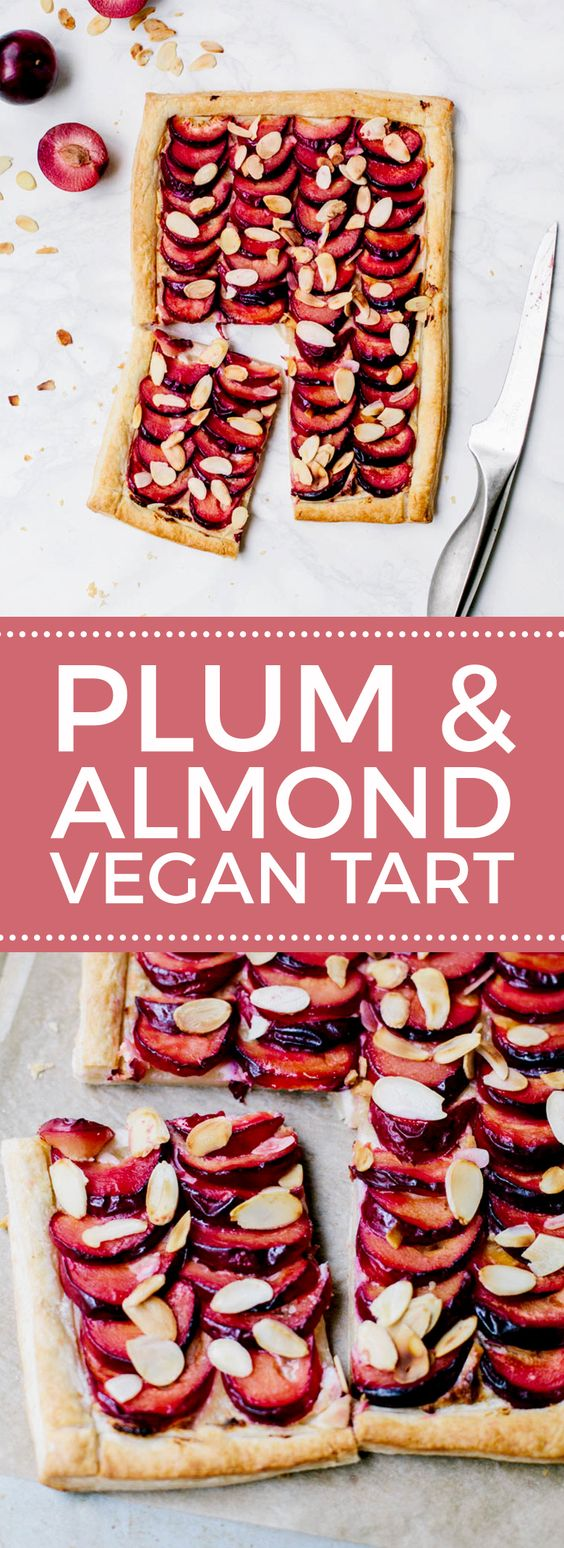 Plum & Almond Tart #Vegan