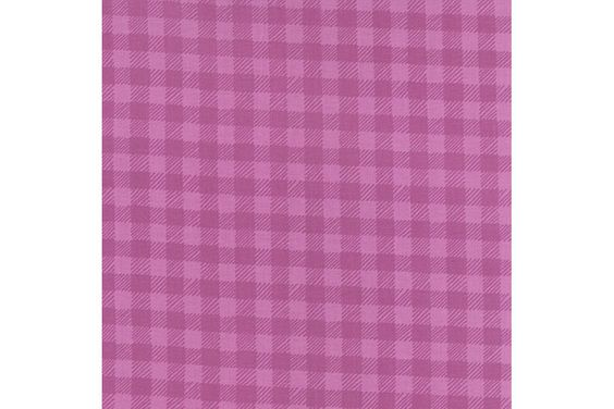 Purple Plaid Gingham Quilting Fabric