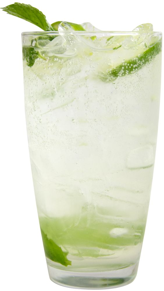 RonDiaz Mojito 3 oz. RONDIAZ Silver Rum 4 mint leaves Soda water Lime ...