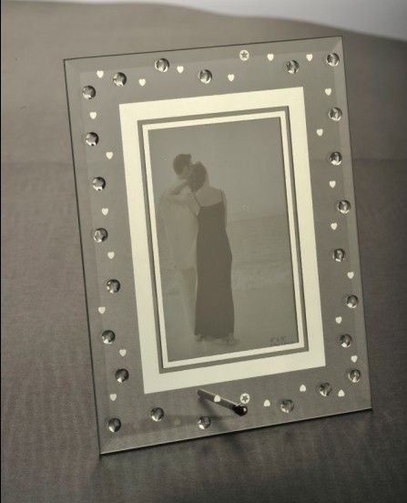 Glass Mirror Frames | Washed Mirror Glass Photo Frame