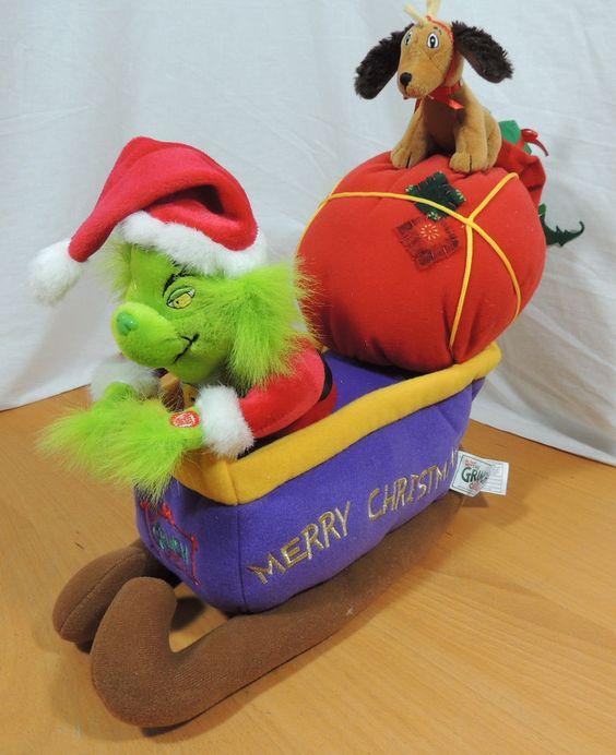 Dr. Seuss How the Grinch Stole Christmas Animated Sleigh Plush…
