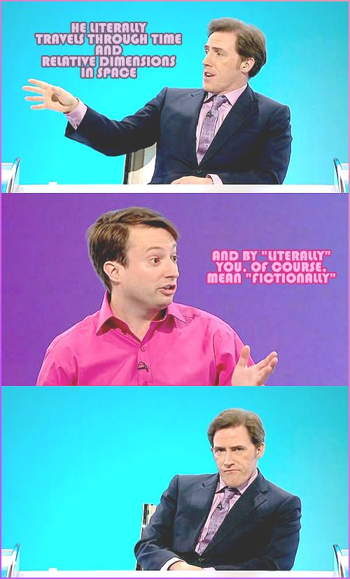 Haha two of my fave things doctor who and would I lie to you? Haha love rob @Elizabeth Blanchard